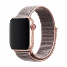 Řemínek DEVIA pro Apple Watch 40mm Series 4 / 5 / 6 / SE / 38mm 1 / 2 / 3 - nylonový - růžový