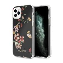Kryt GUESS Flower Shiny N.4 pro Apple iPhone 11 Pro Max - plastový - květiny