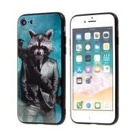 Kryt MARVEL pro Apple iPhone 7 / 8 - Rocket - sklo / guma
