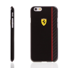 Kryt Ferrari Scuderia pro Apple iPhone 6 / 6S plastový - černý