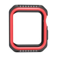 Kryt / pouzdro pro Apple Watch 44mm Series 4 / 5 / 6 / SE - celotělové - plast / silikon - černý / červený