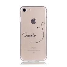 Kryt pro Apple iPhone 7 / 8 gumový - průhledný / úsměv smile
