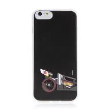 Kryt HOT WHEELS - pro Apple iPhone 6 Plus / 6S Plus - gumový - formule - černý