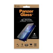 Tvrzené sklo (Tempered Glass) PANZERGLASS pro Apple iPhone 13 Pro Max - černý rámeček - 0,4mm