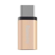 Redukce / adaptér Baseus micro USB / USB-C - zlatá