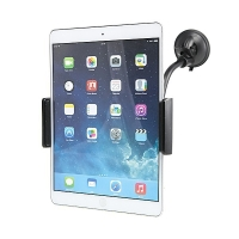 360° otočný držák do auta pro Apple a další zařízení - flexibilní rameno a přísavka (sada 2ks držáků) - černý?