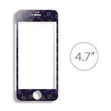 Super odolné tvrzené sklo LOFTER (Tempered Glass) přední část + samolepka na zadní část pro Apple iPhone 6 / 6S - černé - 0,3mm