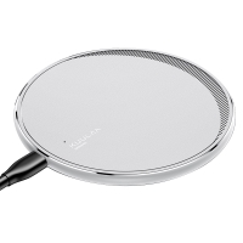 Bezdrátová nabíječka / nabíjecí podložka Qi KUULAA - hliníková - stříbrná