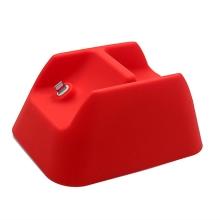 Stojánek pro Apple AirPods Max - prostor pro vložení kabelu Lightning - silikonový - červený