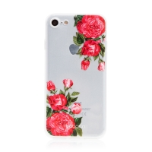 Kryt BABACO pro Apple iPhone 7 / 8 / SE (2020) - gumový - průhledný - růže
