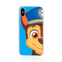 """Kryt """"Tlapková patrola"""" pro Apple iPhone X / Xs - gumový - Chase - modrý"""