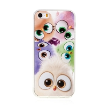 Kryt Angry Birds pro Apple iPhone 5 / 5S / SE - gumový - barevná ptáčata