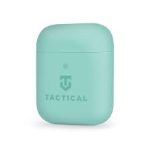 Pouzdro / obal TACTICAL pro Apple AirPods - příjemné na dotek - silikonové - akvamarínové