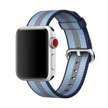 Originální řemínek pro Apple Watch 38mm Series 1 / 2 / 3 / 40mm Series 4 - nylonový - vesmírně modrý