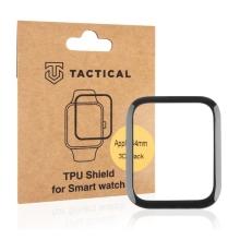 Tvrzené sklo TACTICAL 5D pro Apple Watch 44mm Series 4 / 5 / 6 / SE - 3D okraj - černé / čiré