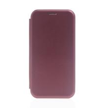 Pouzdro pro Apple iPhone 13 Pro Max - umělá kůže / gumové - vínové