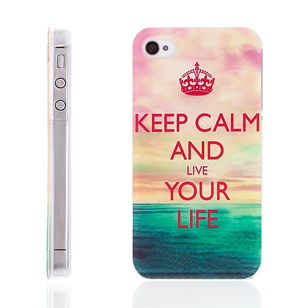 Plastový kryt pro Apple iPhone 4 / 4S - Keep Calm and Live Your Life