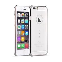 Kryt DEVIA pro Apple iPhone 6 Plus / 6S Plus - průhledný se stříbrným rámečkem a kamínky Swarovski