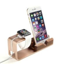 Nabíjecí stojánek pro Apple iPhone a Apple Watch 38mm / 42mm - růžově zlatý (rose gold)