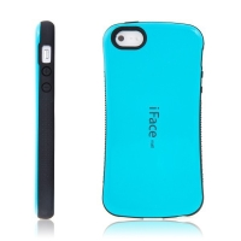 Kryt iFace pro Apple iPhone 5 / 5S / SE plasto-gumový - tyrkysový