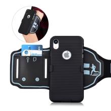 Sportovní pouzdro pro Apple iPhone Xr - černé s reflexním pruhem