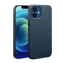 Kryt QIALINO pro Apple iPhone 12 / 12 Pro - kožený - modrý