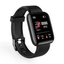 Fitness chytré hodinky Lemonda - tlakoměr / krokoměr / měřič tepu - Bluetooth - černé