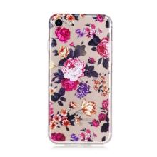 Kryt pro Apple iPhone 7 / 8 / SE (2020) gumový - průhledný / růže