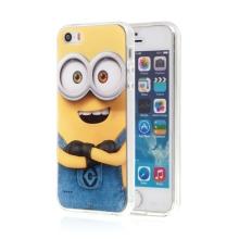 Kryt MIMONI pro Apple iPhone 5 / 5S / SE - smějící se mimoň - žlutý