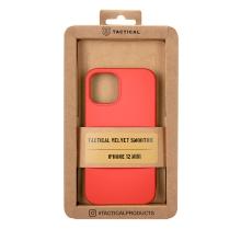 Kryt TACTICAL Velvet Smoothie pro Apple iPhone 12 mini - příjemný na dotek - silikonový - chilli červený