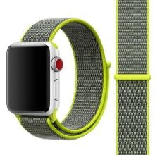 Řemínek pro Apple Watch 44mm Series 4 / 5 / 42mm 1 2 3 - nylonový - barevná vlákna - černý