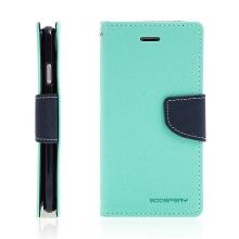 Pouzdro Mercury Fancy Diary pro Apple iPhone 7 / 8 / SE (2020) - stojánek a prostor na doklady - tyrkysové / modré