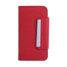 Ochranné pouzdro ve stylu peněženky s magneticky upevňujícím plastovým krytem a klipem pro Apple iPhone 6 / 6S