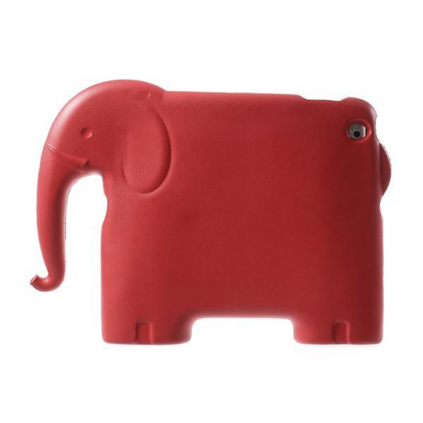 Ochranné pěnové pouzdro pro děti na Apple iPad 2. / 3. / 4.gen. - 3D slon - červené
