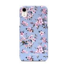 Kryt SO SEVEN Tokyo pro Apple iPhone Xr - plastový - kvetoucí sakury / modrý