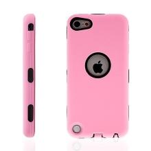 Kryt pro Apple iPod touch 5. / 6. / 7. gen - výřez pro logo - plast / silikon - růžové