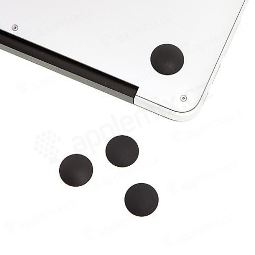 Náhradní spodní gumové podložky pro Apple MacBook Air (modely A1370, 1369, 1466, 1465) - 4ks - černé