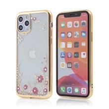 Kryt FORCELL Diamond pro Apple iPhone 11 Pro - gumový - květiny a kamínky