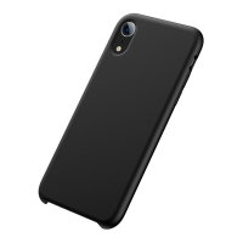 Kryt BASEUS pro Apple iPhone Xr - příjemný na dotek - silikonový - černý
