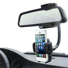 Univerzální držák pro Apple iPhone a podobná zařízení s umístěním na zpětné zrcátko automobilu - černý