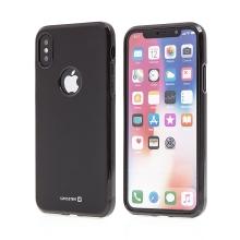 Kryt SWISSTEN pro Apple iPhone X - gumový - černý
