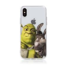 Kryt DREAMWORKS Shrek pro Apple iPhone X / Xs - gumový - Shrek s oslíkem