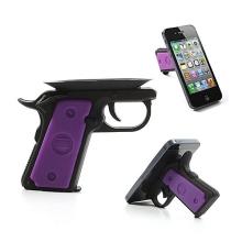 Silikonový držák / stojánek revolver s přísavkou pro Apple iPhone a další mobilní telefony - černo-fialový