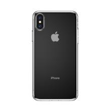 Kryt BASEUS pro Apple iPhone Xs - gumový se záslepkami - průhledný