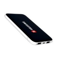 Externí baterie / power bank SWISSTEN - 5000 mAh - 2x USB, 2A, vstup Micro USB - černá