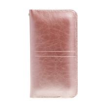 Pouzdro / obal SOYAN pro Apple iPhone - umělá kůže - Rose Gold