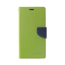 Pouzdro Mercury Fancy Diary pro Apple iPhone Xs Max - stojánek a prostor pro doklady - zelené / modré