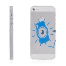 Kryt pro Apple iPhone 5 / 5S / SE tenký gumový - modré oko