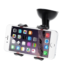 Držák do auta pro Apple iPhone - na sklo / palubní desku - s přísavkou - klipové uchycení - černý