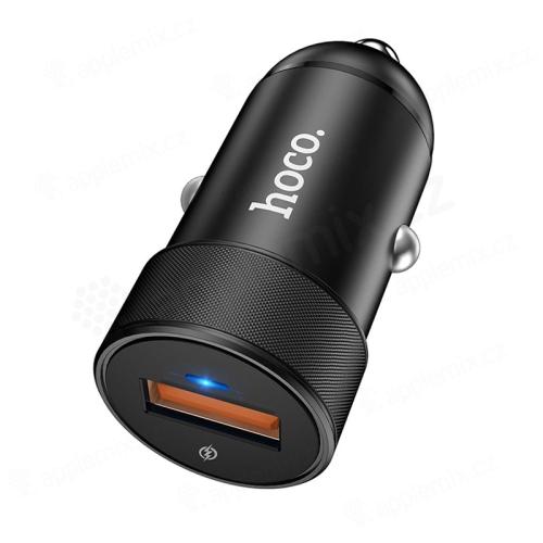 Autonabíječka HOCO - USB - 18W rychlé nabíjení QC - černá